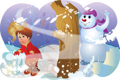 Winter games Royalty Free Stock Photography