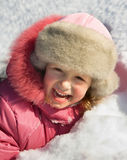 Winter games of child Stock Image