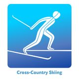 Winter games icon. Cross-country skiing icon. Olympic species of events in 2018. Winter sports games icons,  pictograms for web, print and other projects. Vector Stock Images