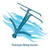 Winter games icon. Freestyle Skiing Aerials icon. Olympic species of events in 2018. Winter sports games icons,  pictograms for web, print and other projects Stock Image