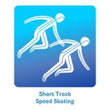 Winter games icon. Short Track Speed Skating icon. Olympic species of events in 2018. Winter sports games icons,  pictograms for web, print and other projects Royalty Free Stock Images