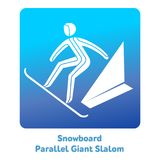 Winter games icon. Snowboard Parallel Giant Slalom icon. Olympic species of events in 2018. Winter sports games icons,  pictograms for web and other projects Stock Photos