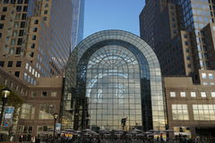Winter Garden Atrium 5. The Winter Garden Atrium is a 10-story glass-vaulted pavilion on Vesey Street in New York City's Brookfield Place office complex Stock Image