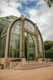 Winter Garden facade, a Deco greenhouse for non-native plants in the Garden of Plants in Paris. Stock Images