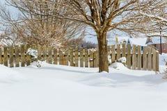 Winter Garden Gate Royalty Free Stock Photo