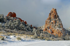 Winter in Garden of the Gods Royalty Free Stock Photos