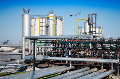 Winter gas industry stock photos