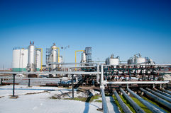 Winter gas industry Stock Images