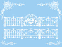 Winter gates Royalty Free Stock Images