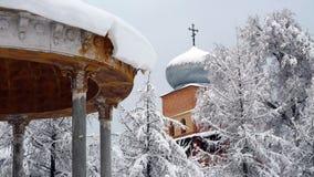 Winter gazebo. Royalty Free Stock Images