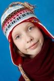 Winter gekleidetes Mädchen stockbilder