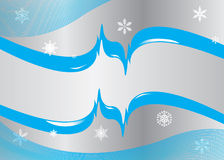 Winter geometric background with snowflakes Royalty Free Stock Photography