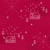 Winter geometric collage, seamless pattern Stock Image