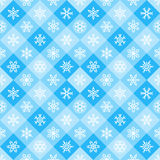 Winter geometrical seamless pattern with snowflakes Royalty Free Stock Photo