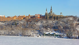 Winter at Georgetown suburb of Washington DC. Stock Photo