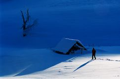 Winter-Geschichte stockfoto