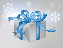Winter Gift Package. Illustration of a winter gift Stock Photos