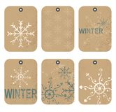 Winter Gift Tag Stock Photography