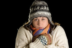 Winter girl Stock Photography