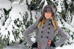 Winter girl Stock Images