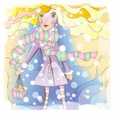Winter girl Stock Image