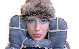 Winter girl. Stock Photos