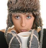 Winter girl. Royalty Free Stock Photos