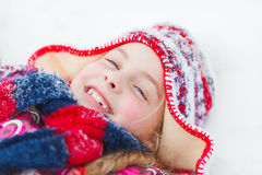 Winter girl Stock Photos