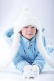 Winter Girl. A little girl in winter clothing Royalty Free Stock Images