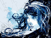 Winter girl background Royalty Free Stock Image