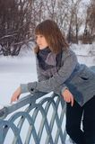 Winter Girl in a coat Royalty Free Stock Photo