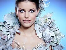 Winter Girl in Luxury fantasy  Coat Royalty Free Stock Photography