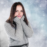 Winter girl portrait Stock Image