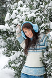 Winter girl portrait Royalty Free Stock Images