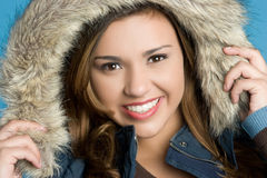 Winter Girl Smiling Stock Photography