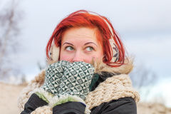 Winter girl. Royalty Free Stock Image