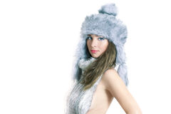 Winter glamour portrait Stock Photography