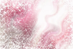 Winter glass surface with hoarfrost pattern on Royalty Free Stock Photography