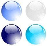 Winter glassy balls Royalty Free Stock Photo