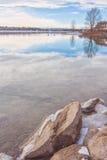 Winter on the Glenmore Reservoir Stock Image