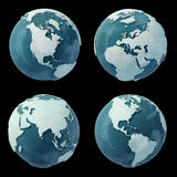 Winter Globes on black. Winter Globes isolated on black Stock Photos