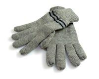 Winter gloves. On white background Stock Image