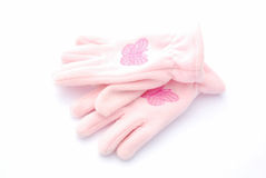 Winter gloves for girls Stock Photos