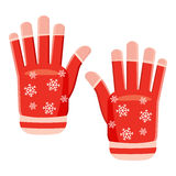 Winter gloves icon, cartoon style. Winter gloves icon in cartoon style isolated on white background. Accessory symbol vector illustration Stock Image