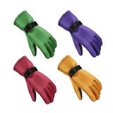 Winter gloves set. Vector set of green, red, blue, yellow sport winter gloves isolated on white background Stock Photos