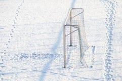 Winter goal Stock Photo