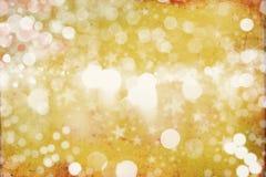 Winter Golden Bokeh Background Stock Images