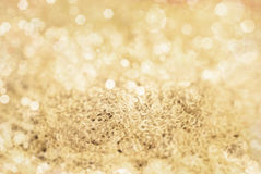 Winter Golden Bokeh Background Royalty Free Stock Photos