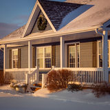 Winter Golden Hour. Golden hour in a suburban neighborhood Royalty Free Stock Images