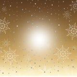 Winter-Goldhintergrund Lizenzfreies Stockfoto